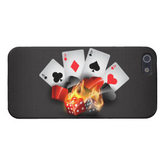 Flame Poker Casino Black Case For The iPhone 5
