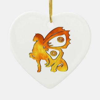Flame Pony Ceramic Heart Decoration