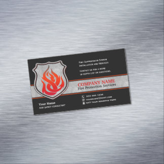 Flame Shield Fire Protection Magnetic Magnetic Business Card