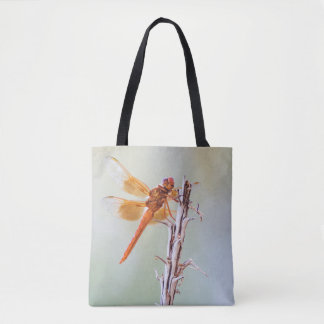 Flame Skimmer dragonfly and Agave Tote Bag