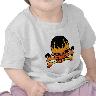 Flame skull tee shirt