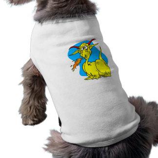 Flame Sneezer Yellow Dragon png Doggie Tee Shirt