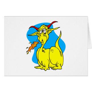 Flame Sneezer Yellow Dragon.png Greeting Cards