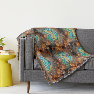 Flame Surrounded Horse Throw Blanket