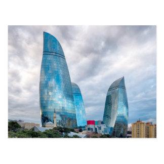 Flame towers postcard