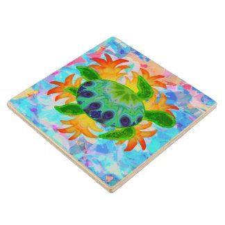 Flame Turtle Wood Coaster