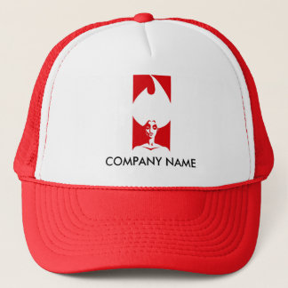 Flame Woman Customizable Hat