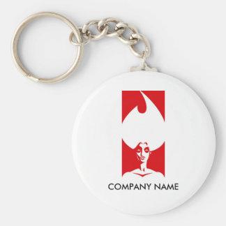 Flame Woman Customizable Keychain