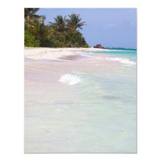 Flamenco Beach Culebra Puerto Rico 4.25x5.5 Paper Invitation Card