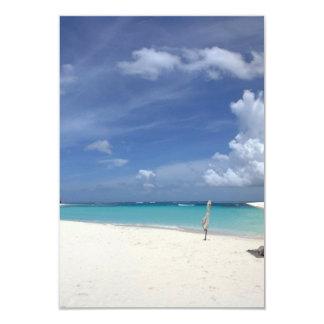 "Flamenco Beach Culebra Puerto Rico 3.5"" X 5"" Invitation Card"