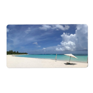 Flamenco Beach Culebra Puerto Rico Shipping Label