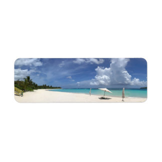 Flamenco Beach Culebra Puerto Rico Return Address Label