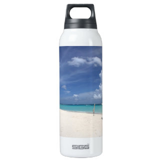 Flamenco Beach Culebra Puerto Rico 16 Oz Insulated SIGG Thermos Water Bottle