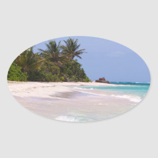 Flamenco Beach Culebra Puerto Rico Oval Sticker