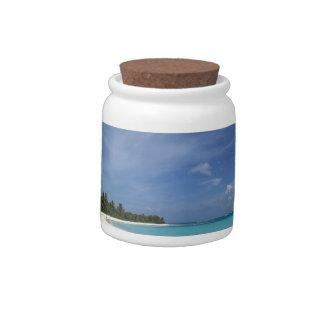 Flamenco Beach Culebra Puerto Rico Candy Jars