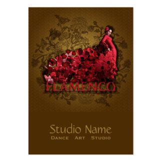Flamenco - Business, Schedule Card, Large Business Card Template