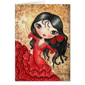 """Flamenco Dancer"" Greeting Card"