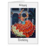 Flamenco Dancer  Happy Birthday Card Greeting Card