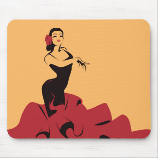 flamenco dancer in a spectacular pose mouse mat