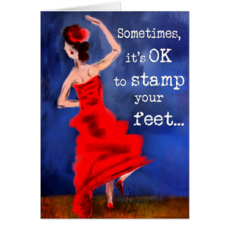 Flamenco Dancer Inspirational Design Card