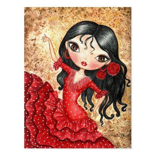 """""""Flamenco Dancer"""" Postcard"""