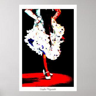 Flamenco dancer poster Print