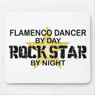 Flamenco Dancer Rock Star by Night Mouse Pad