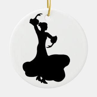 Flamenco Dancer Round Ceramic Decoration