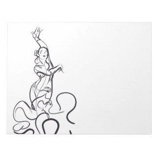 Flamenco dancer sketches notepad