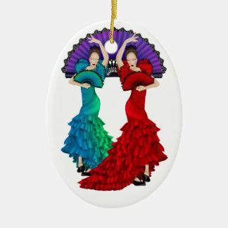 Flamenco Dancer - SRF Ceramic Oval Decoration
