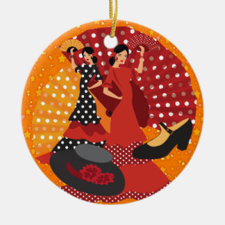 Flamenco Dancer - SRF Round Ceramic Decoration