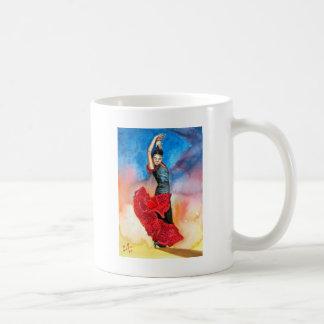 FLAMENCO DANCER watercolour Basic White Mug