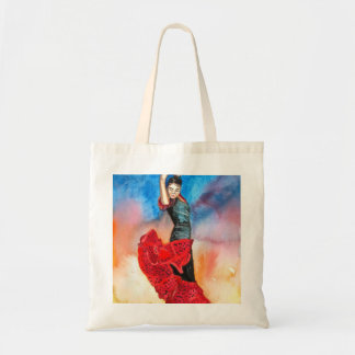 FLAMENCO DANCER watercolour Budget Tote Bag