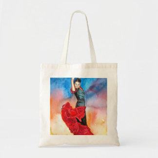 FLAMENCO DANCER watercolour Budget Tote Bag
