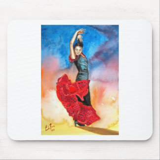FLAMENCO DANCER watercolour Mouse Pad