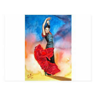 FLAMENCO DANCER watercolour Post Cards