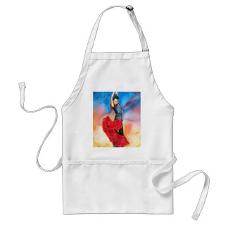 FLAMENCO DANCER watercolour Standard Apron