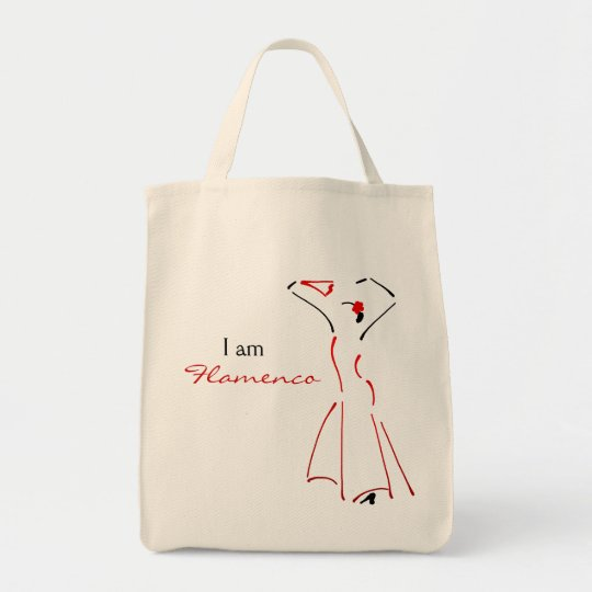 Flamenco Dancer with Customisable Slogan Tote Bag