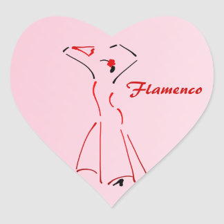 Flamenco Dancer with Customisable Text Heart Stickers