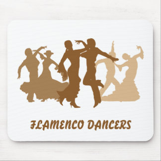 Flamenco Dancers Illustration Mouse Pad