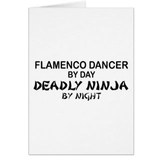 Flamenco Deadly Ninja by Night Greeting Card
