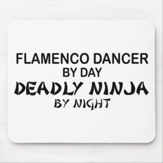 Flamenco Deadly Ninja by Night Mouse Pad