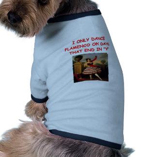 flamenco dog tee shirt