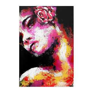 Flamenco Flower Acrylic Wall Art