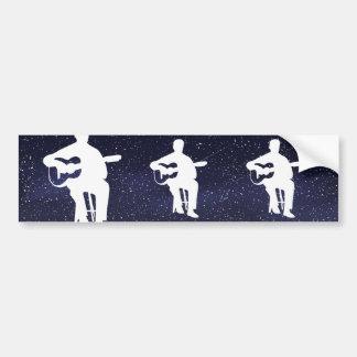 Flamenco Guitarists Pictogram Bumper Sticker