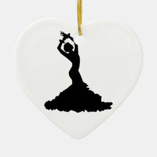 Flamenco woman christmas ornament