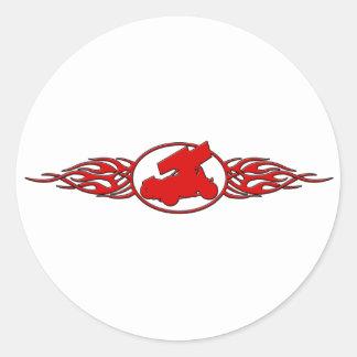 Flames5 Round Sticker