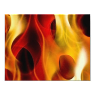 Flames 4.25x5.5 Paper Invitation Card