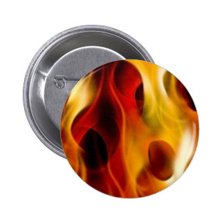 Flames 6 Cm Round Badge