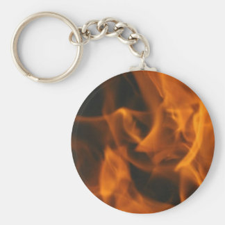 Flames and FIre Basic Round Button Key Ring
